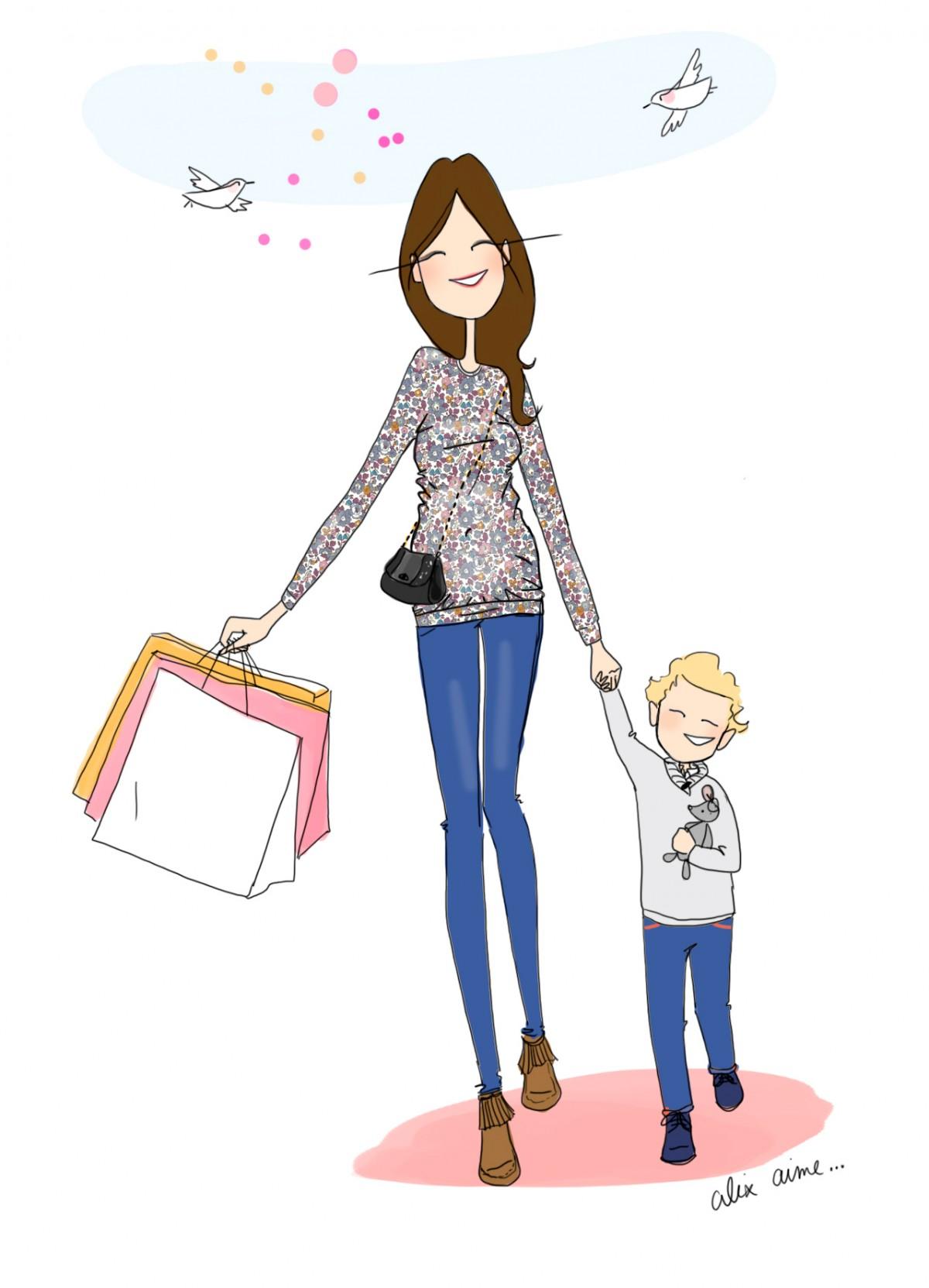 Illustration personnelle réalisée nommée Femme enceinte